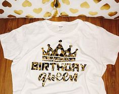 Birthday shirt women, birthday queen shirt, birthday queen, women birthday shirt, birthday girl shirt women, birthday girl leopard shirt