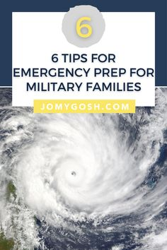 Emergency preparedness takes on a whole new meaning when you're new to an area and a military family.