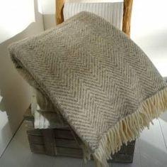 bronte throws | Home › Cushions & Throws › Wool Throws › Herringbone Wool Throw ...