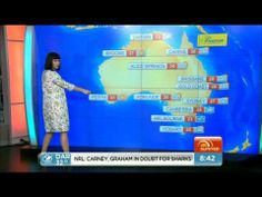 Katy Perry - Does The Australian Weather Forecast on 7 Sunrise 5 March 2014. This is great!
