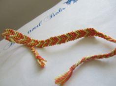 Chevron Braided Friendship Bracelet  Bright by beausbitsandbobs, £4.00