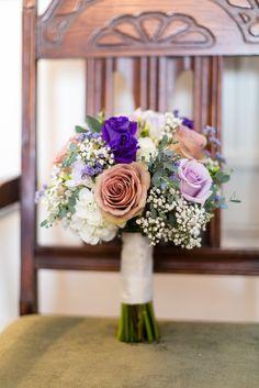 Photography by Darling Photographers Venue: Historic Whitehall Manor Florals: Twinbrook Floral Design Purple Wedding Arrangements, Wedding Flowers, Bridesmaid Bouquet, Bridal Bouquets, Whitehall Manor, Free Wedding, Photographers, Floral Design, Table Decorations