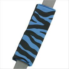 Drive in comfort with Zebra Animal Print blue and black car seat belt shoulder pad. Soft velvet-like seat belt covers in girly designs. Seat Belt Pads, Shoulder Pads, Blue Stripes, Car Seats, Cushions, Gifts, Black, Throw Pillows, Toss Pillows