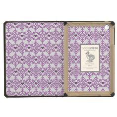 Snowflake heart pattern in purple-lavender color / iPad Mini Retina Case #fomadesign