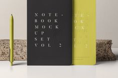This is another set of psd notebook mockup and pencil to display your designs. You can change colors and add your...