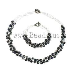 Natural Freshwater Pearl Jewelry Set    http://www.beads.us