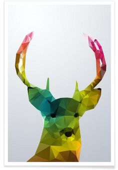 Crystal Deer als Premium Poster