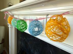 DIY Easter Egg Garland Craft. Made this with the kids this weekend... even the hubby got in on the act!