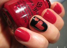 Sweet Valentine's Day Nail Art Designs For Prom Girls 2017