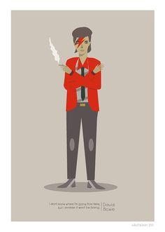 David Bowie Print by JudyKaufmann on Etsy, $25.00