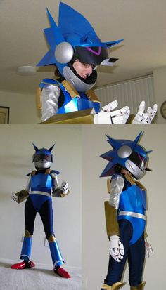 Some more pictures of my Mecha cosplay. Still upset I don't have any really great pictures, so this is the best I have. The other pictures: [link] [link. More Mecha Sonic Cosplay Sonic Costume, Sonic Birthday Parties, Happy Birthday, Cosplay Costumes, Halloween Costumes, Dragon Ball, Doctor Eggman, Great Pictures, Sonic The Hedgehog