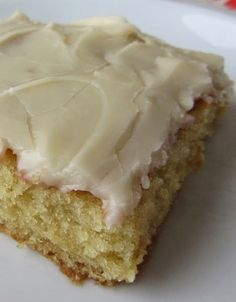 White Texas Sheet Cake ~ the frosting is like the most incredible vanilla fudge with a rich hint of milk
