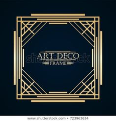 Art deco frame vector vintage retro with text and golden gradient template for design illustration frames Bee Embroidery, Meal Planning Printable, Page Design, Brochure Design, Banner Design, Art Deco Fashion, Retro Vintage, Retro Art, Typography Design