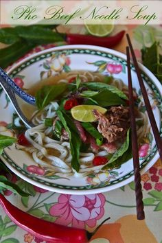 This looks like a serious labor of love! Pho – Vietnamese Beef Noodle Soup & Luke Nguyen's Tips For Making The Best Pho Vietnamese Cuisine, Vietnamese Recipes, Asian Recipes, Healthy Recipes, Ethnic Recipes, Asian Foods, Healthy Food, Beef Noodle Soup, Beef And Noodles
