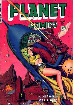"""Dedicated to all things """"geek retro:"""" the science fiction/fantasy/horror fandom of the past including pin up art, novel covers, pulp magazines, and comics. Sci Fi Comics, Old Comics, Horror Comics, Comics Vintage, Vintage Comic Books, Comic Books Art, Comic Art, Vintage Art, Art Pulp Fiction"""
