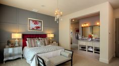 Guest bedroom/another smaller master bedroom suite on the first floor - Darling Homes