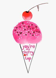 Margaret Berg Art: Ice Cream Cone Cherry On Top