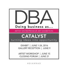 Opening of #DBA #Catalyst exhibit June 9th 6-8pm Excited to participate as a graduate of the Artist as Entrepreneur Institute! #GiannaD #contemporaryart #miamiartist #mixedmedia #mixedmediaartist #mixedmediaart #woodart #AEI #artserve #browardart #ftlauderdaleart