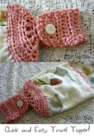 Little Miss Stitcher: Quick and Easy Crochet Towel Topper Pattern