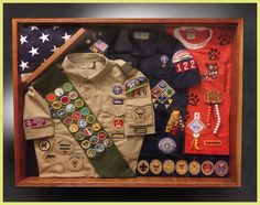 Shadow boxes for Cub Scouts, Boy Scouts and Eagles Scouts