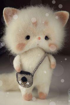 Toy animals, handmade. Fair Masters - handmade. Buy Snowy fox. Toy Felt .. Handmade. Black and White