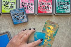 More Distress Oxide Ink Techniques with Heather Tracy for The Graphics Fairy! These are great for Mixed Media Projects, Collage, Card Making and more! Distress Ink Techniques, Embossing Techniques, Diy And Crafts, Paper Crafts, Paper Art, Card Making Designs, Art Journal Tutorial, Distress Oxide Ink, Graphics Fairy