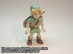 The Legend of Zelda young Link papercraft
