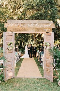 beautiful idea for a country outdoor wedding