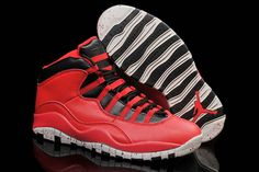 "2015 ""Red Cement"" Black Jordan 10 X Athletic Sneaker for Men"