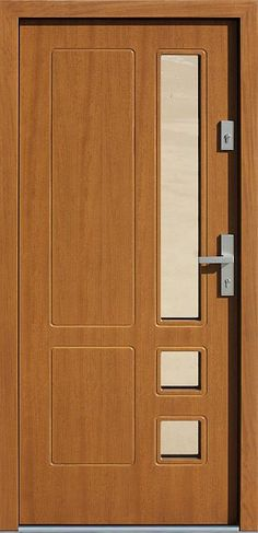 Drewniane wejściowe drzwi zewnętrzne do domu z katalogu modeli klasycznych wzór 590s8