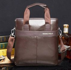 MAIKE POLO men casual business messenger bag vintage designer cross-body bag
