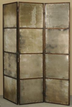 nicely distressed room divider screen