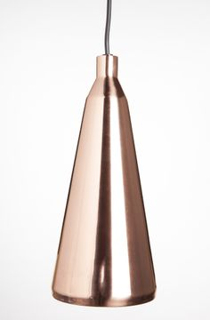 Funnel-Shaped Copper Pendant | lighting . Beleuchtung . luminaires | Design: @ Stylish Home Goods |