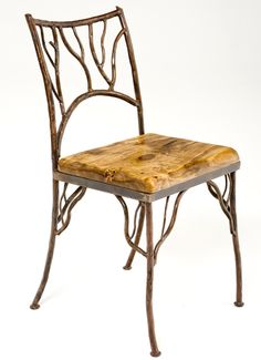 Copper Furniture Collection, Forged Metal Twig Chair