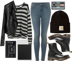 by Lolikesclothes on tumblr (check her out, shes ah-mazing)   winter outfit with doc martens   rock n roll chic outfit