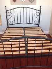 black metal bed frame 4ft 6in double