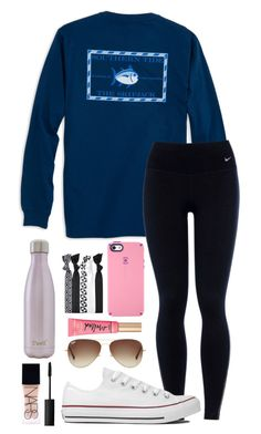 """idk"" by izzyforet ❤ liked on Polyvore featuring Southern Tide, NIKE, Speck, Popband, Ray-Ban, Too Faced Cosmetics, Converse, S'well and NARS Cosmetics"