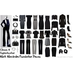 Work Wardrobe Foundation Pieces: Classic & Sophisticated by lauriehasler on Polyvore featuring Dsquared2, M Missoni, L'Agence, T By Alexander Wang, Nina Ricci, Vivienne Westwood Anglomania, Moschino Cheap & Chic, TIBI, Comptoir Des Cotonniers and Armani Collezioni