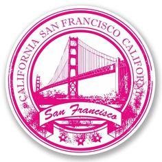2 x San Francisco Vinyl Sticker Luggage Travel Tag California USA Fun World Travel Decor, San Francisco, Travel Stamp, Grunge, Tumblr Stickers, Aesthetic Stickers, Instagram Highlight Icons, Logo Sticker, Custom Stamps