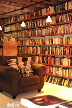 Neil Gaiman's library - one of my all-time fave authors! And I just love how lived in his library looks.
