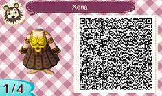 New Leaf Fashions by Peanut — Xena: Warrior Princess design for Animal Crossing...