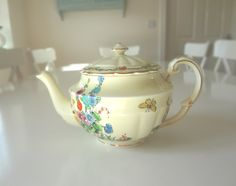 Teapot Crown Staffordshire Hollyhock Antique Rare Pattern Number 742202 Circa 1920 - EnglishPreserves by EnglishPreserves on Etsy