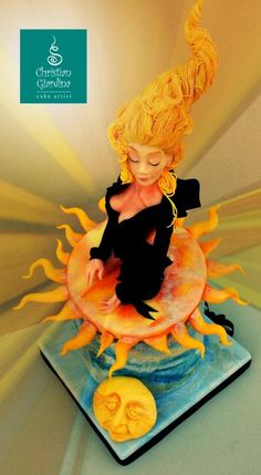 "Edible Art. ""Rising Sun""  - Cake by Christian Giardina"