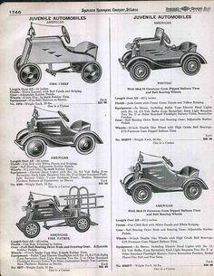 deluxe pedal car original ad