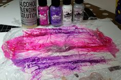 Alcohol Inks and Clingfilm