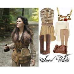 Once Upon a Time-Snow White by ashleigh-klinger on Polyvore featuring polyvore, fashion, style, Fat Face, BKE Boutique, J Brand, Frye, Disney Couture, Jocasi and Once Upon a Time