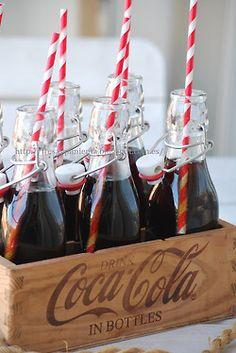 LOVE the retro feel! Coke+Red and White=Retro perfection!!!!!