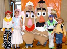 Homemade Toy Story Family Group Halloween Costume... This website is the Pinterest of costumes