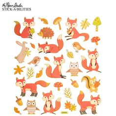 Foxes Foil Stickers
