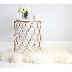 Dew Drops Gold Side Table